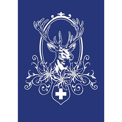 Rayher Siebdruckschablone Hubertus blau