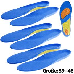 3er-Set Sport-Schuheinlagen, Größe 39-46
