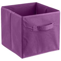 ADOB Aufbewahrungsbox Faltbox (1 Stück) lila Bad Sanitär Aufbewahrungsboxen