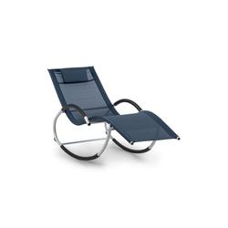 blumfeldt Gartenliege Westwood Rocking Chair Schaukelliege ergonomisch Aluminium dunkelblau, Schwingeffekt, ergonomisch geformte Gartenliege