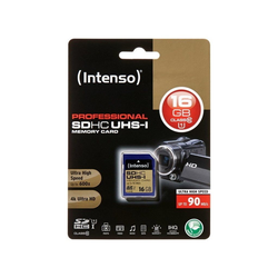 Intenso SD Card Speicherkarte 16 GB Speicherkarte