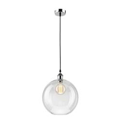 Licht-Erlebnisse Pendelleuchte CHLOE Hängeleuchte Retro Glas klar Pendelleuchte Esszimmer Küche Lampe