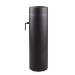 Ø 120 mm - Ofenrohr 50 cm mit Drosselklappe Schwarz