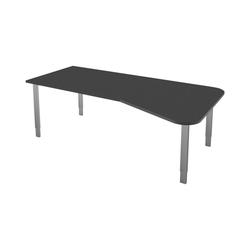 KERKMANN Schreibtisch Stage One, Freiform, 4-Fuß grau