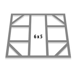"""Globel Industries Fundamentbodenrahmen für Gerätehauser """"Dream 65"""" und """"Lean-To 56"""",aluminium blank,144 x 171 cm"""