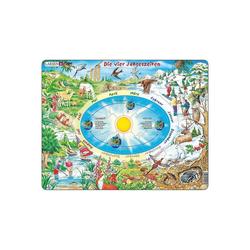 Larsen Puzzle Rahmen-Puzzle, 44 Teile, 36x28 cm, Die vier, Puzzleteile
