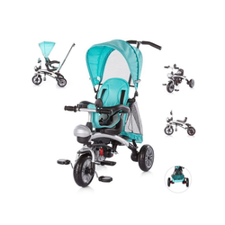 Chipolino Dreirad Tricycle Maverick, Dreirad 5 in 1, Laufrad, Sitz drehbar, EVA-Reifen blau