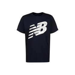 New Balance Trainingsshirt Graphic Heathertech blau S