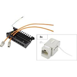 Renkforce KS10 8 Port Netzwerk-Patchbox CAT 6a 1 HE