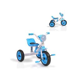 Moni Dreirad Dreirad Felix, mit EVA-Reifen, Melodien, Vorderlicht ab 3 Jahre blau