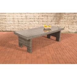 CLP Gartentisch Sandnes 5mm, mit einer Tischplatte aus Glas grau