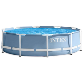 Intex Prism Frame Pool Set 457 x 84 cm grau/blau inkl. Kartuschenfilter