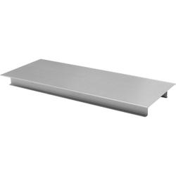 SCHNEIDER Tortenplatte aus Edelstahl, eckig, Rechteckige Platte mit Standfuß aus rostfreiem Edelstahl, Maße: 39,5 x 16 x 3 cm