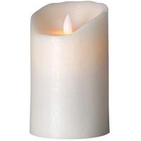 SOMPEX Flame Echtwachs Weiß Ø 8 cm