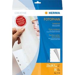 HERMA Fotokarton Fotoblätter weiß 23,0 x 29,7 cm 250 g/qm