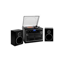 Auna 388-BT Stereoanlage Plattenspieler Kassette Bluetooth Stereoanlage (UKW/MW Radiotuner, 0 W)