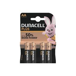 Duracell PLUS Batterie, (4 St), AA, lange Lebensdauer