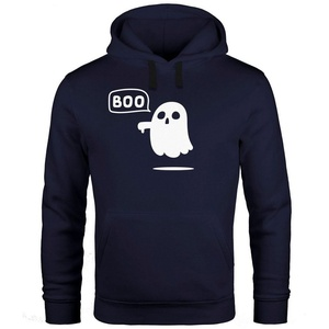MoonWorks Hoodie Kapuzen-Pullover Herren Geist BOO Gespenst Halloween Hoodie Männer Moonworks® XL