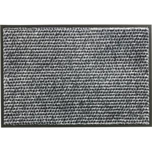 Schöner Wohnen Fußmatte Miami Design 002, Farbe 004 Punkte silber 67 x 150 cm