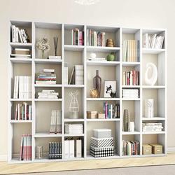 Hochglanz Wohnzimmerregal für Bücher Weiß