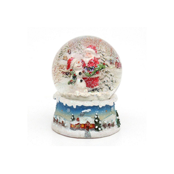 Dekohelden24 Schneekugel Schneekugel, Santa, Maße H/B/Ø Kugel: ca. 8,5 x 7 (1 Stück)