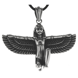Kiss of Leather Kettenanhänger Isis Götin der Geburt Osiris Horus Ägypten ägyptisch Anhänger Edelstahl