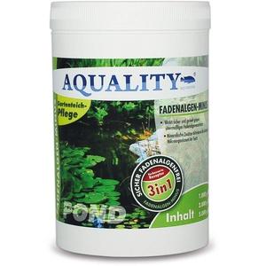 AQUALITY Gartenteich 3in1 Fadenalgen-Minus (Wirkt sicher und gezielt - Fadenalgenvernichter, Algenmittel, Algenentferner mit Sofortwirkung), Inhalt:1 kg