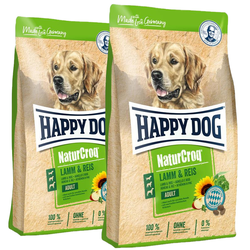 HAPPY DOG NaturCroq Lamm & Reis 30 kg (2 x 15 kg)