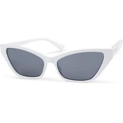 styleBREAKER Sonnenbrille Schmale Retro Cateye Sonnenbrille Getönt weiß