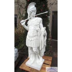 BAD-7188 Centurio Skulptur römischer Feldherr 172cm 334kg Römer Gartenfigur römische Gartenskulptur (Farbe: weiss)