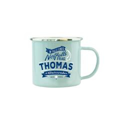 HTI-Living Becher Echter Kerl Emaille Becher Thomas