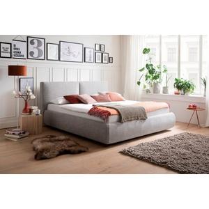 meise.möbel Polsterbett, Wahlweise mit Lattenrost, Matratze und Bettkasten grau