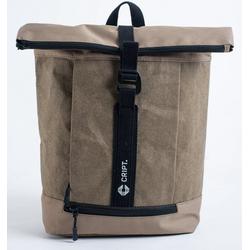 CRIPT Rucksack veggy backpack, Kraft Papier, reißfest, abwaschbar, leicht, ökologisch, nachhaltig grün