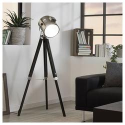 Licht-Trend Stehlampe Gazer Dreibein-in Holz und Chrom