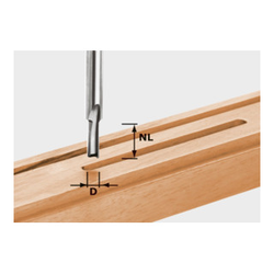 Festool Nutfräser HW Schaft 8 mm HW S8 D6/14