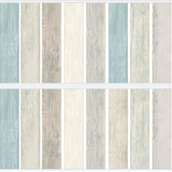 RoomMates® Wandsticker Vintage Holzdielen Look - Blau
