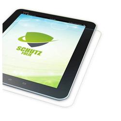 Wigento Tablet-Hülle 1x HD LCD Displayschutz für Lenovo Tab M7 TB-7305F Schutz Folie + Poliertuch