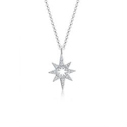Elli Collierkettchen Erbskette Stern Kristalle 925 Silber