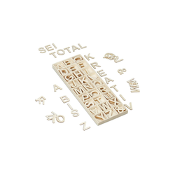 relaxdays Deko-Buchstaben Holzbuchstaben Set 162 tlg.