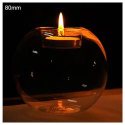 Gotui Kerzenständer, 800mm Runde Teelichthalter,Glas Tee Kerzenhalter,Hochzeit Teelicht Dekor