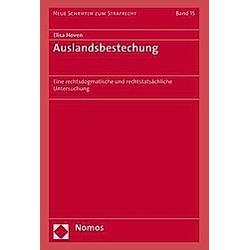 Auslandsbestechung. Elisa Hoven  - Buch