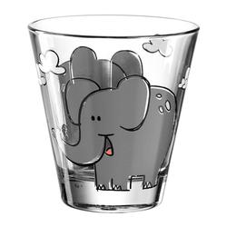 LEONARDO Kinderbecher BAMBINI Elefant 120 ml, Glas bunt