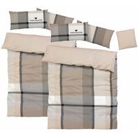 TOM TAILOR Lenny Biber beige 2 x 135 x 200 cm + 40 x 40 cm + 2 x 40 x 80 cm