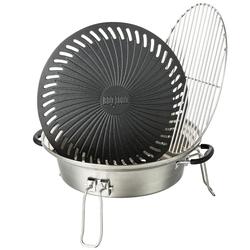 BBQ-Toro Grillaufsatz Set für Raketenofen, mit Grillrost, Grillplatte