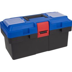 VBS Aufbewahrungsbox, Kunststoff, inkl. Sortierfach und Griff, 36 cm x 17 cm x 19 cm