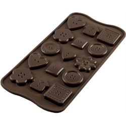 STÄDTER Silikonform Silikomart Pralinenform Schokoform Choco Buttons