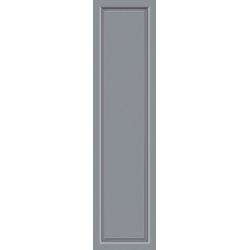 KM MEETH ZAUN GMBH Seitenteile S04, für Alu-Haustür, BxH: 60x208 cm, grau grau