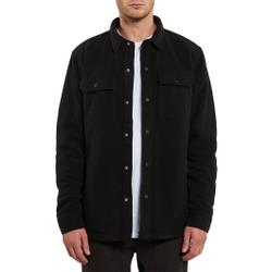 Volcom - Bower Polar Fleece Black - Hemden - Größe: S