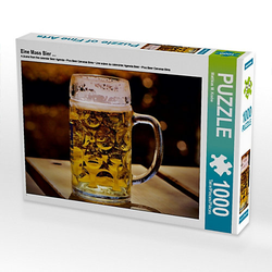 Eine Mass Bier ... Lege-Größe 64 x 48 cm Foto-Puzzle Bild von Mark Krahe Puzzle