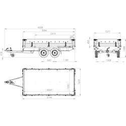 Zweiachsanhänger 304x153 MARTZ HOCHLADER 300/2 750 kg